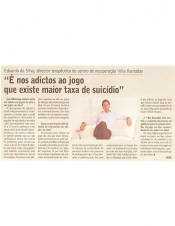 É nos adictos ao jogo que existe maior taxa de suicídio
