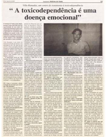 A toxicodependência é uma doença emocional