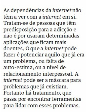 É possível travar a dependência da internet?